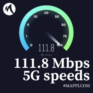 111.8 Mbps average download speed is what 5G smartphone users experience